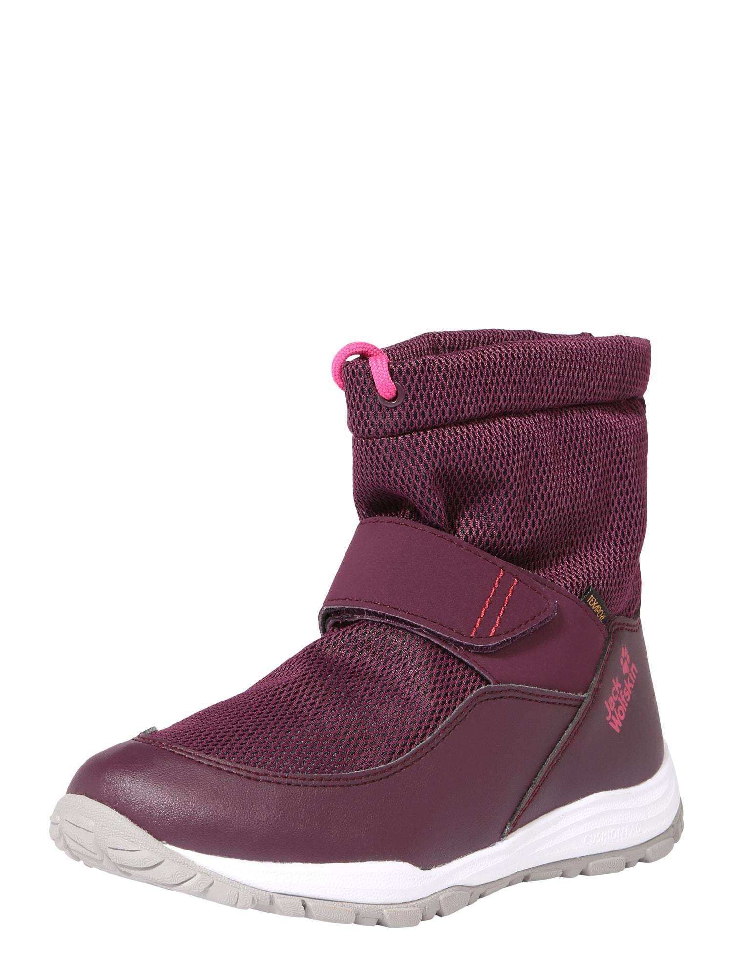 JACK WOLFSKIN Sportiniai batai 'Kiwi winterized Texapore Mid' gervuogių spalva