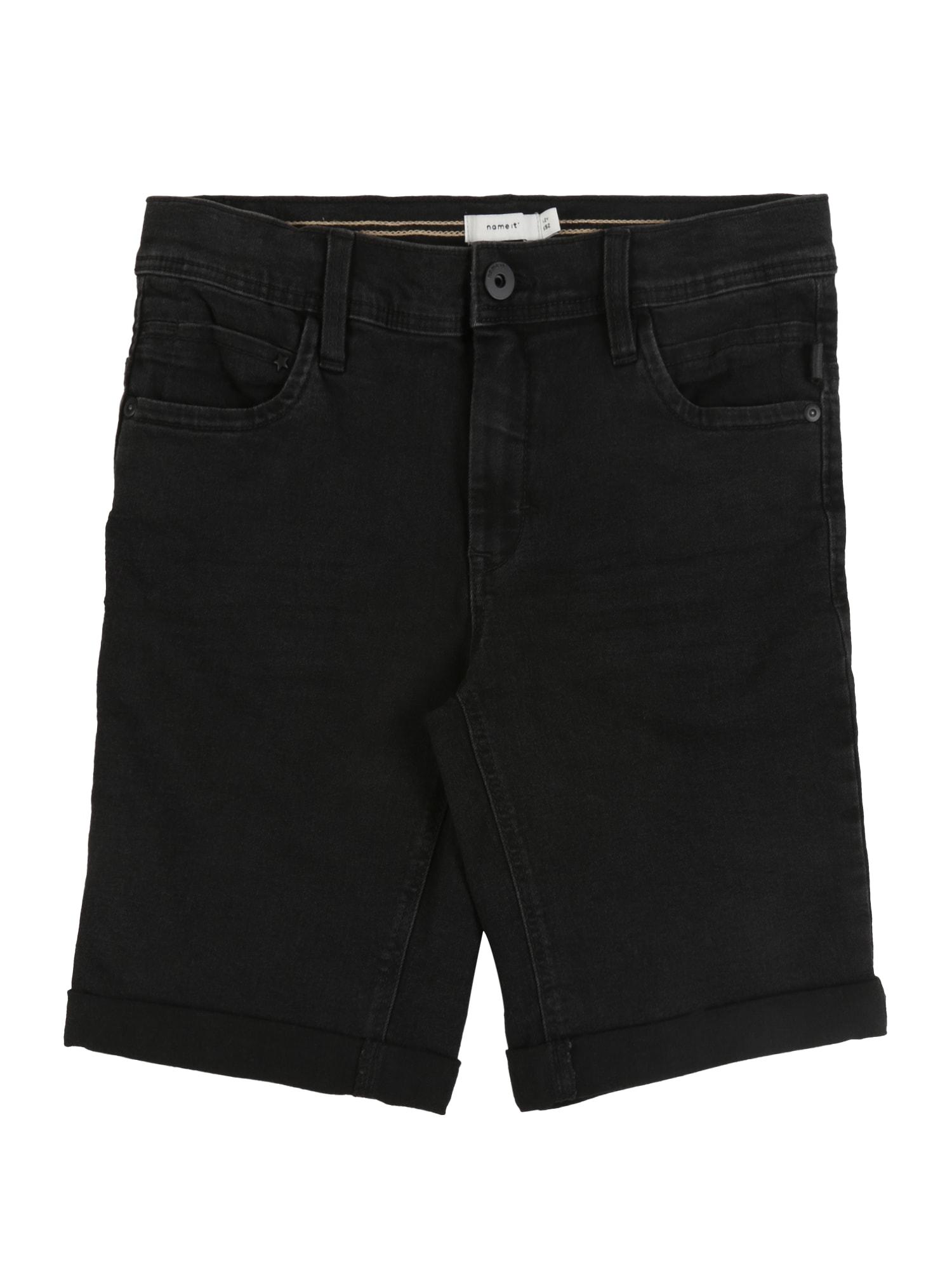 NAME IT Džinsai 'NKMSOFUS' juodo džinso spalva