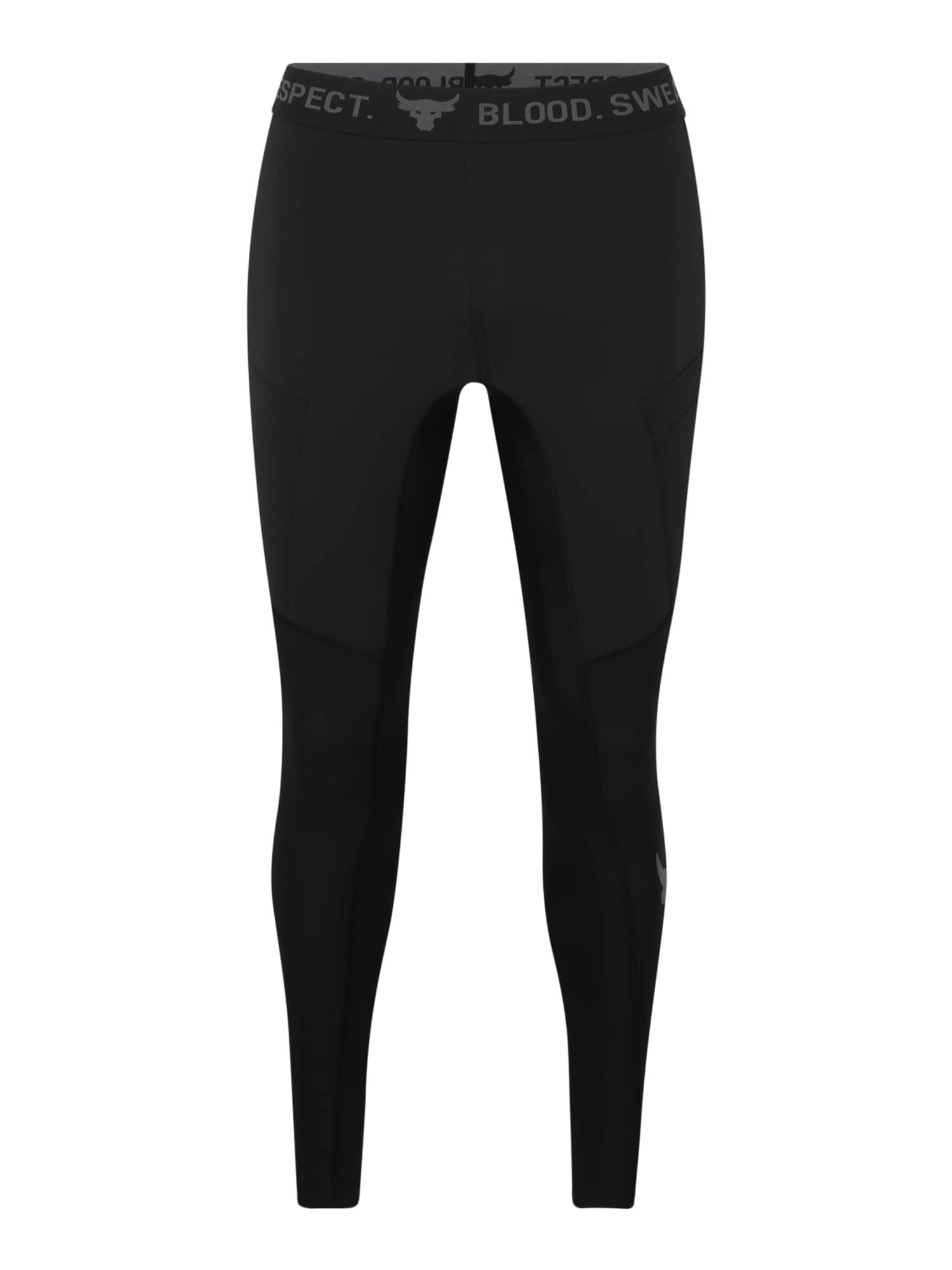 UNDER ARMOUR Sportinės kelnės tamsiai pilka / juoda
