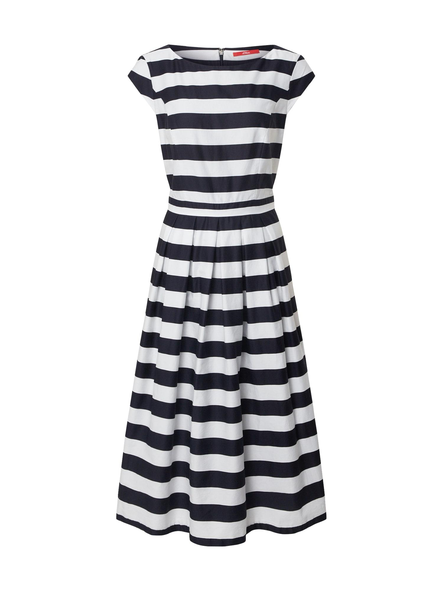 s.Oliver Vasarinė suknelė balta / mėlyna