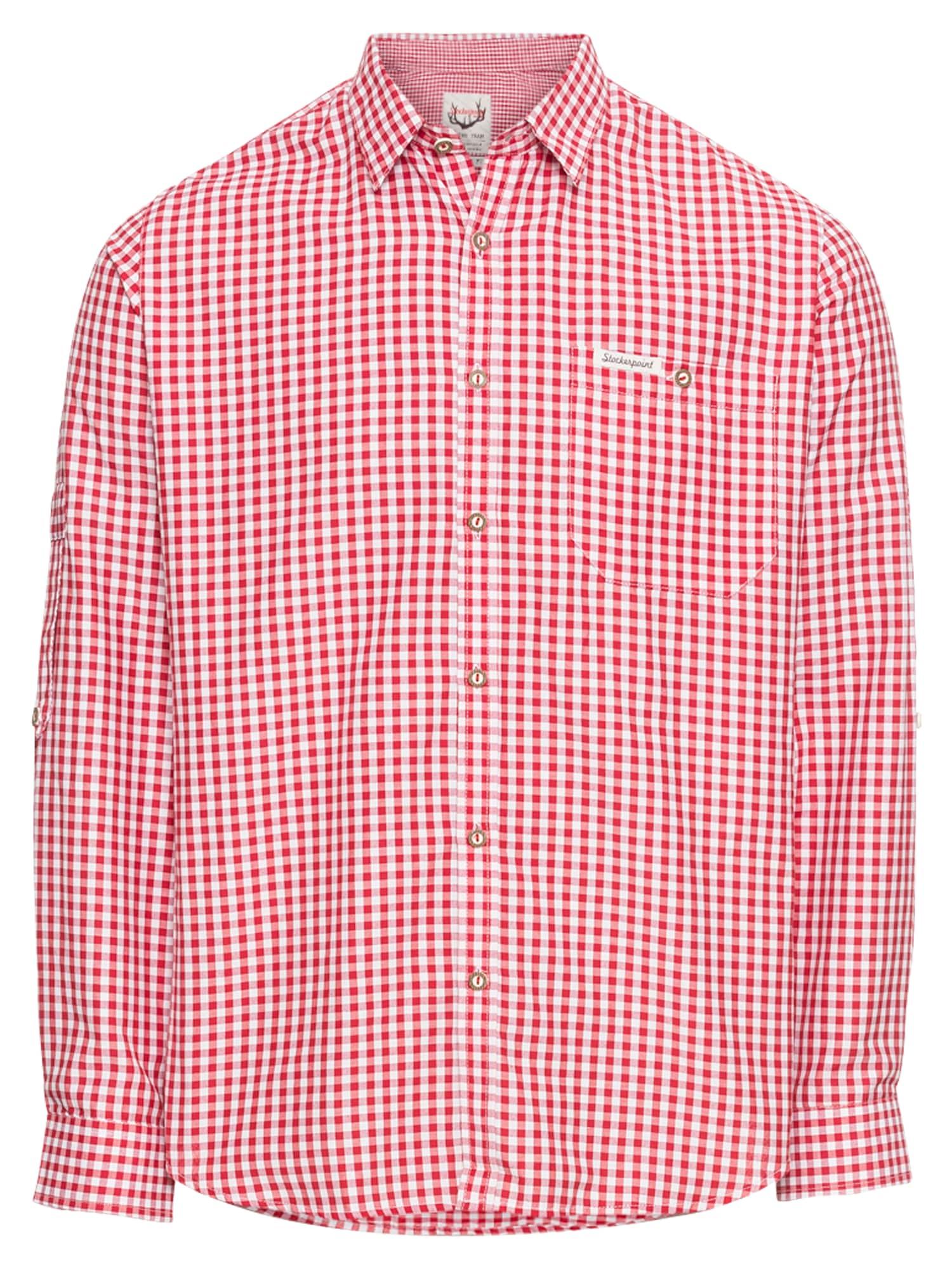 Krojová košile červená bílá STOCKERPOINT