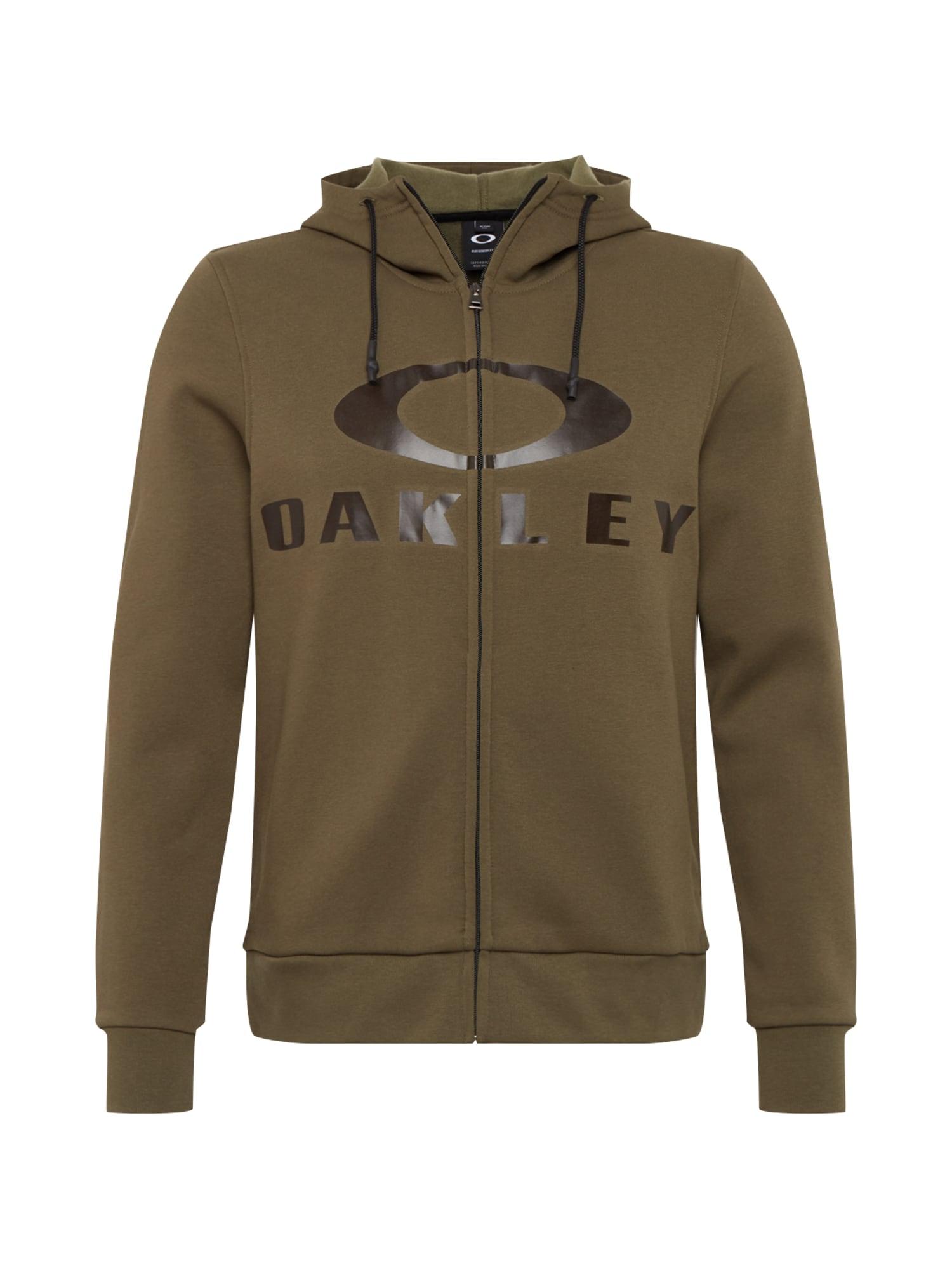 OAKLEY Sportinis džemperis 'BARK FZ HOODIE' alyvuogių spalva