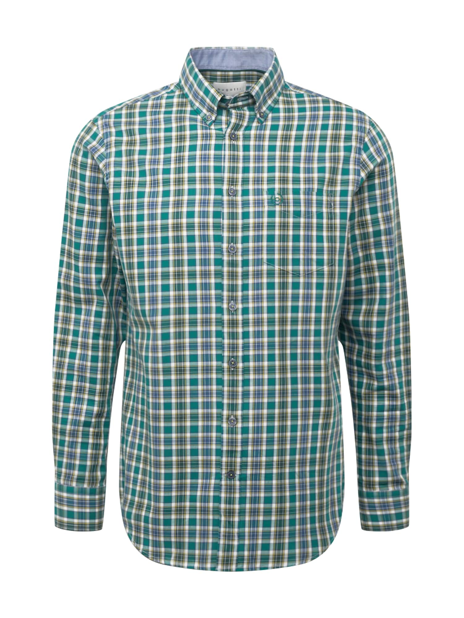 bugatti Košile  zelená / modrá / medová