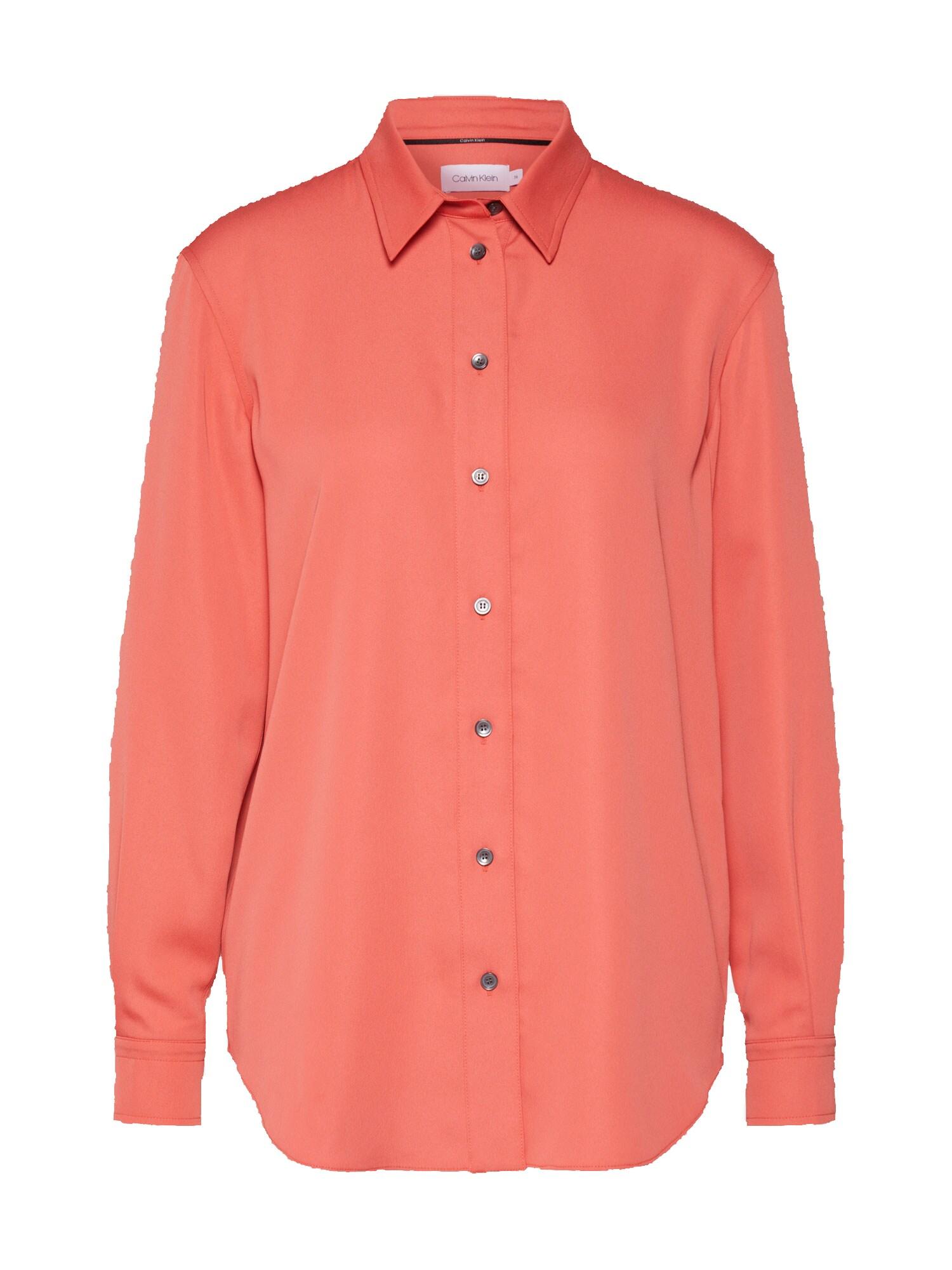 Calvin Klein Palaidinė 'PIPING' oranžinė-raudona