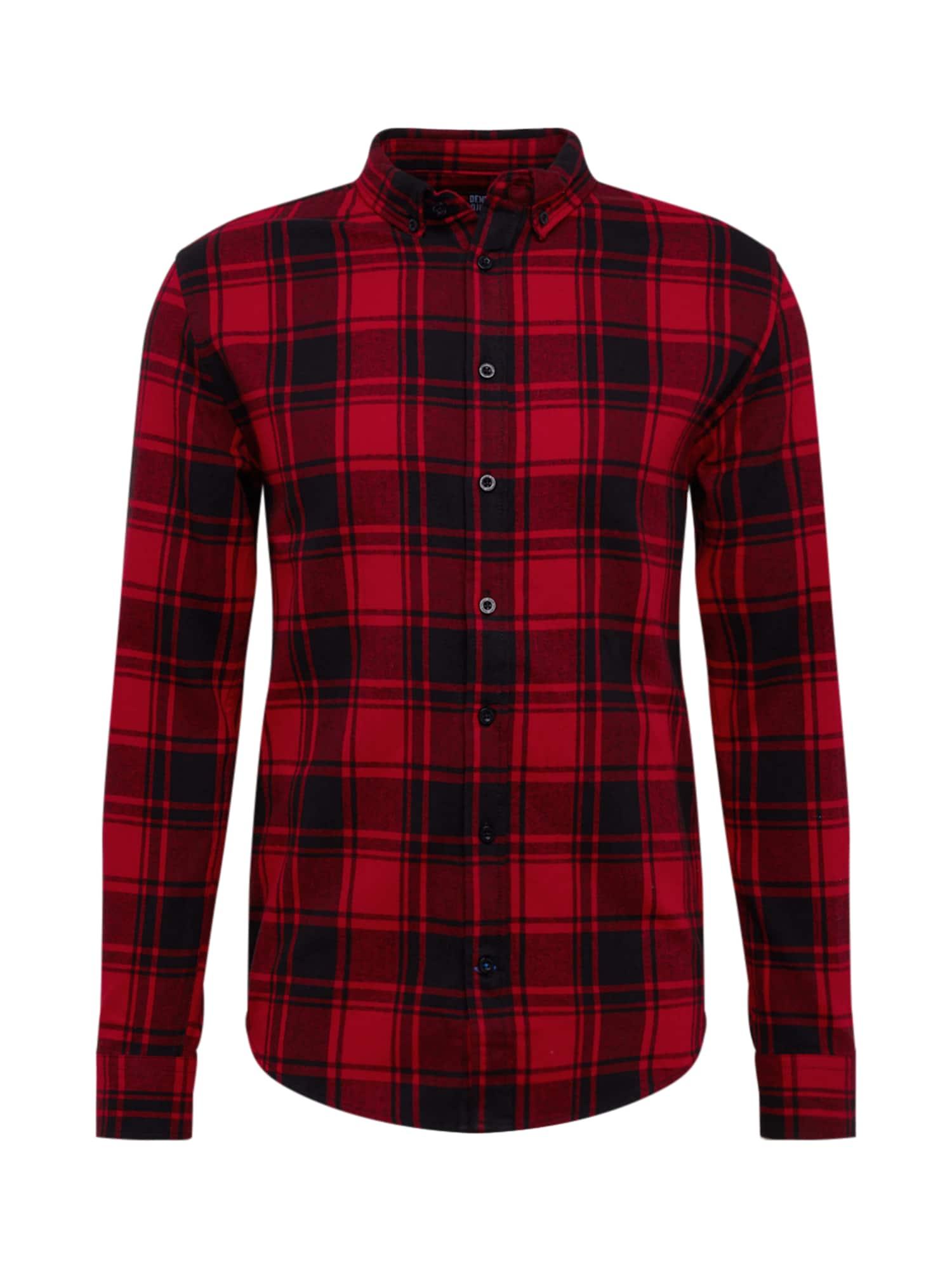 Denim Project Dalykiniai marškiniai 'Check Shirt' raudona