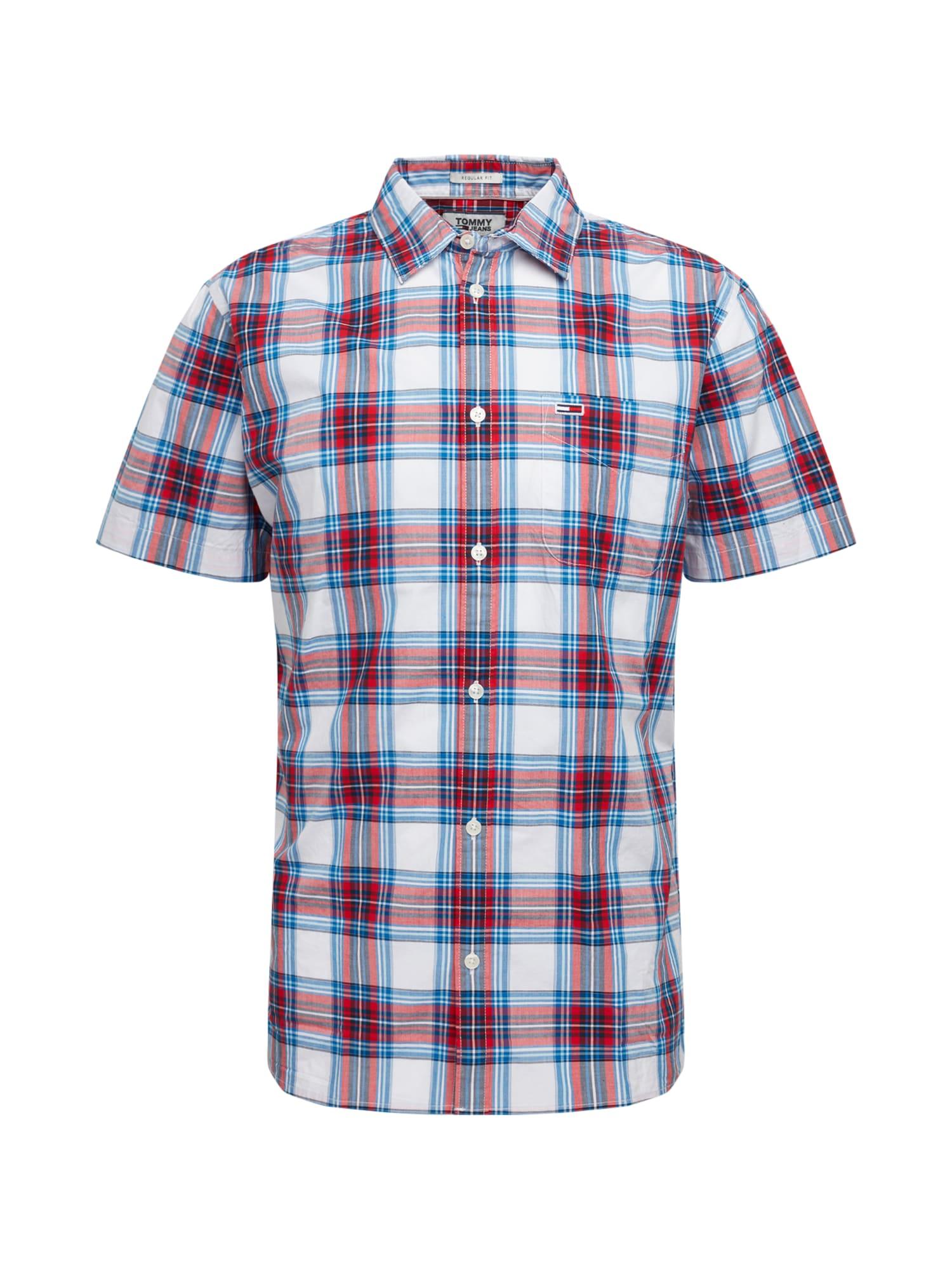Tommy Jeans Dalykiniai marškiniai balta / mėlyna / raudona