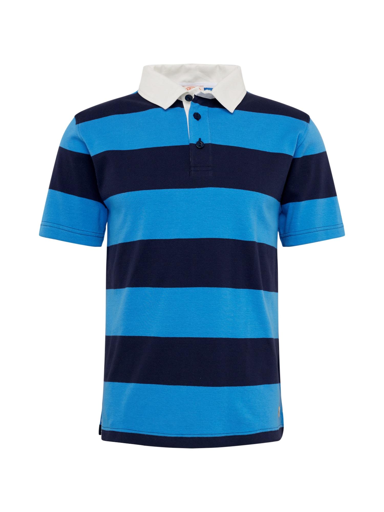 Armor Lux Marškinėliai 'Rugby MC Héritage' tamsiai mėlyna / dangaus žydra