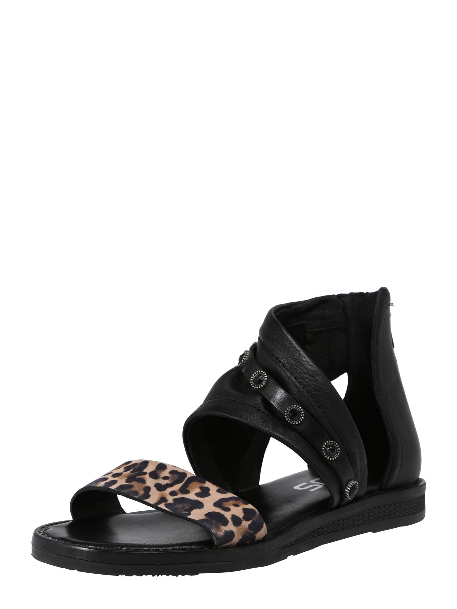 Sandály TEMPLE černá MJUS