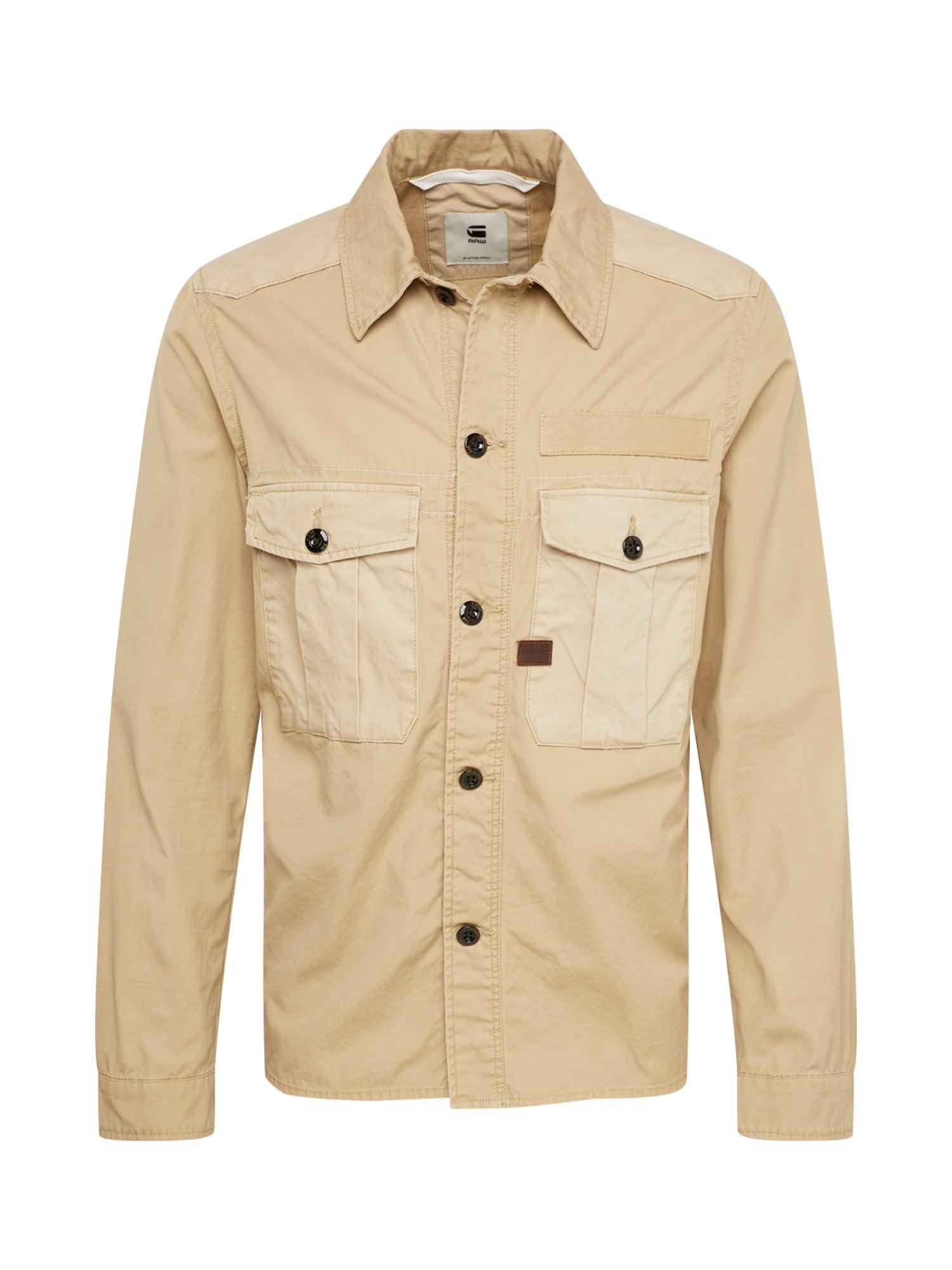 Přechodná bunda Bromid utility straight shirt ls béžová G-STAR RAW