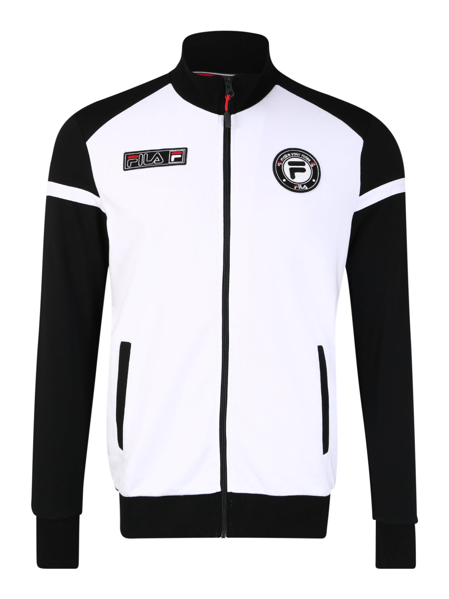 FILA Sportinis džemperis balta / juoda