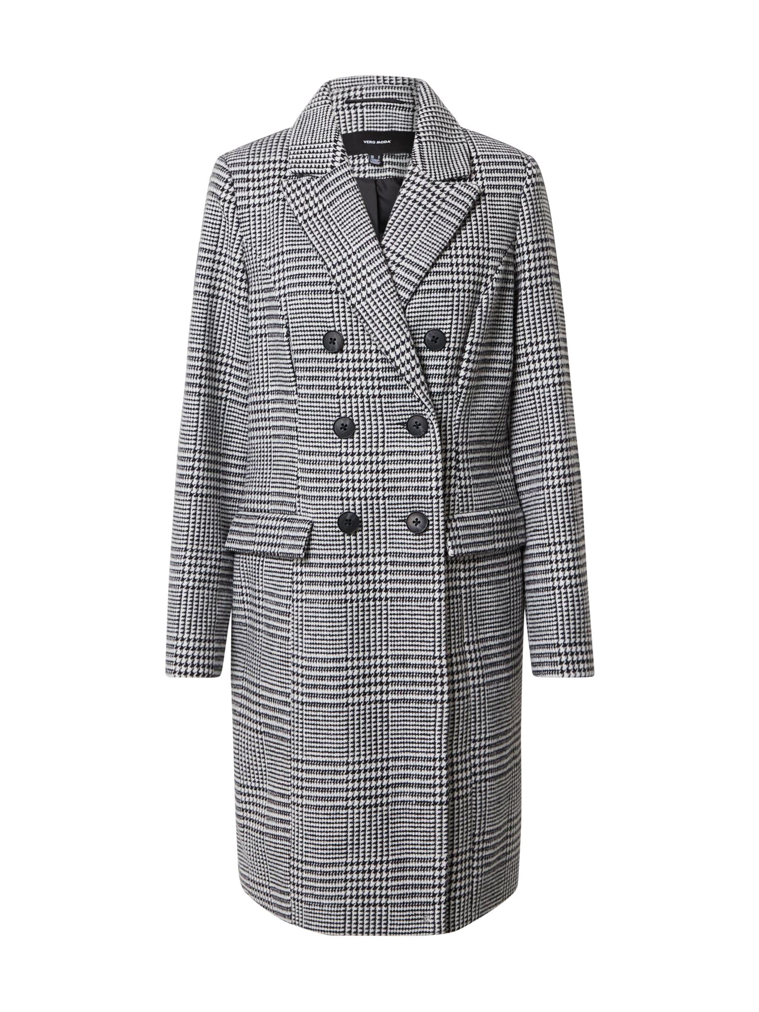 VERO MODA Přechodný kabát 'Hafia'  bílá / černá