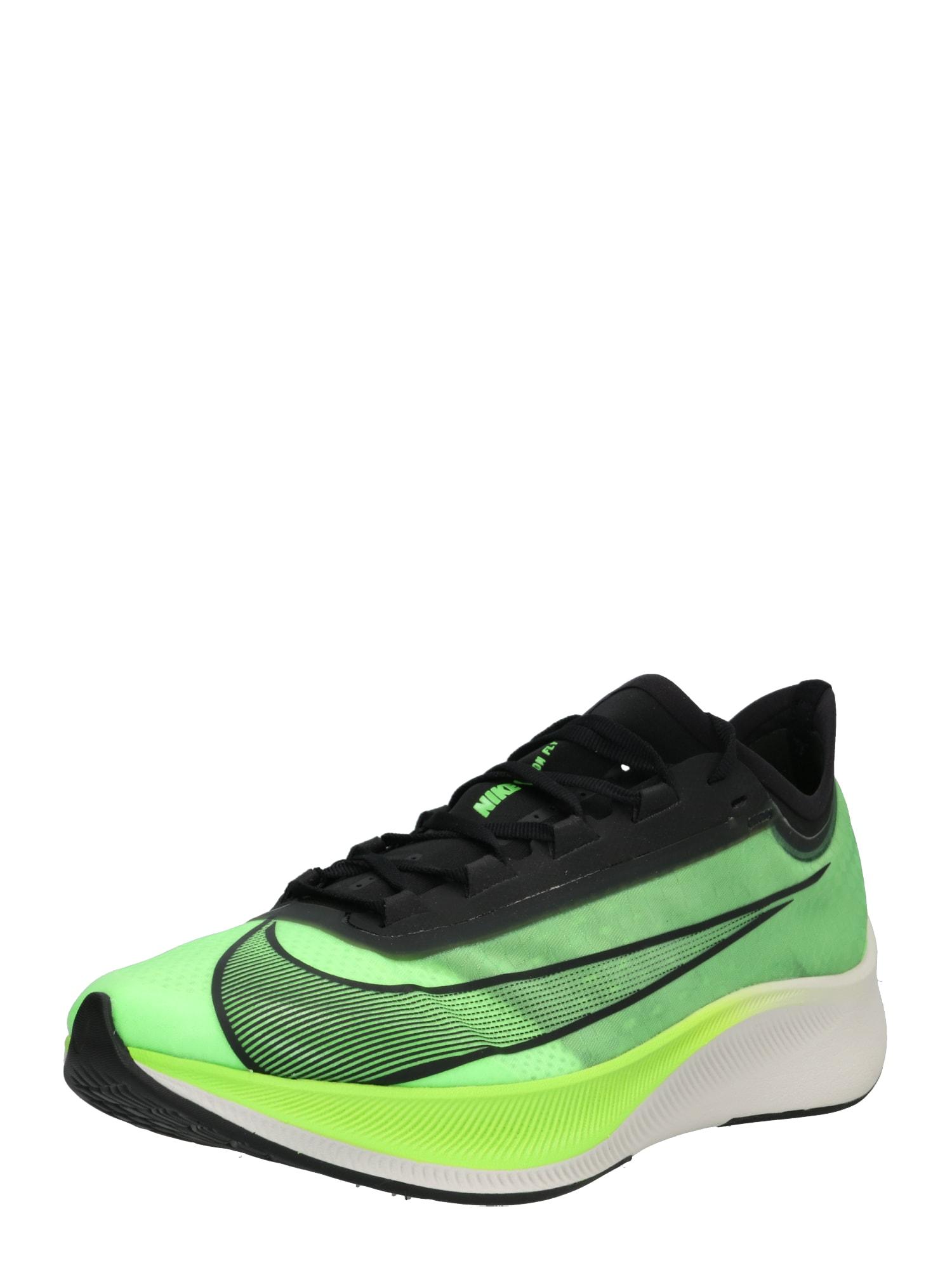 Běžecká obuv ZOOM FLY 3 svítivě zelená NIKE