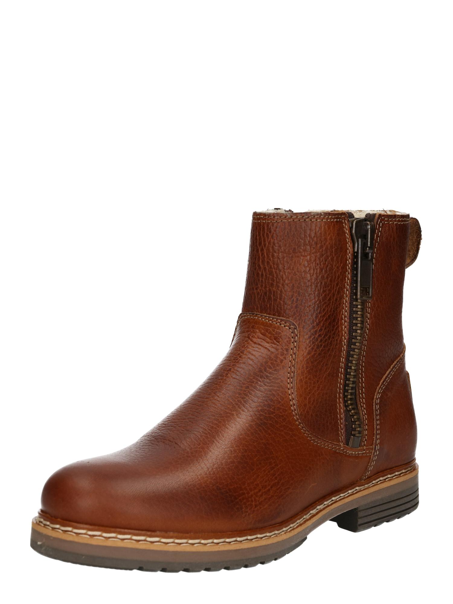 BULLBOXER Auliniai batai ruda (konjako)
