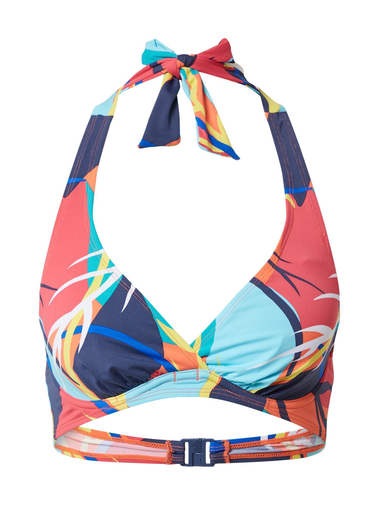 ESPRIT Bikinio viršutinė dalis šviesiai mėlyna / tamsiai mėlyna / mėlyna / oranžinė / turkio spalva / geltona / šviesiai raudona