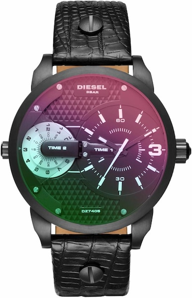 Uhren für Frauen - DIESEL Quarzuhr 'MINI DADDY, DZ7405' smaragd cyclam schwarz  - Onlineshop ABOUT YOU