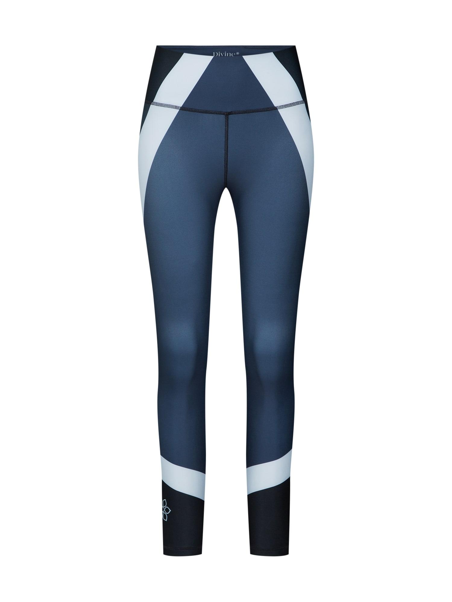 Divine Flower Sportinės kelnės 'Antiope' tamsiai mėlyna / šviesiai mėlyna