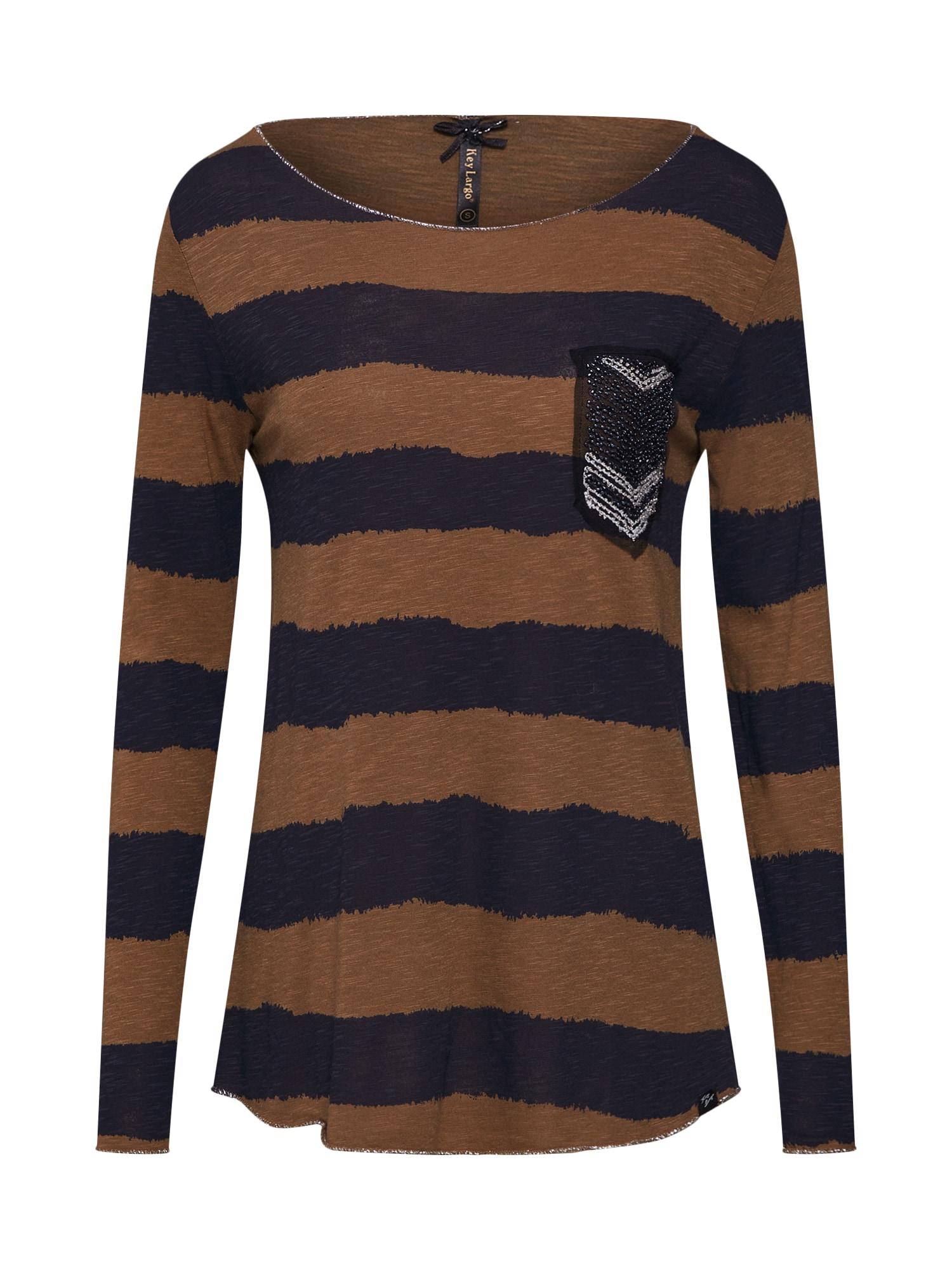 Tričko JENNY tmavě modrá hnědá černá stříbrná Key Largo