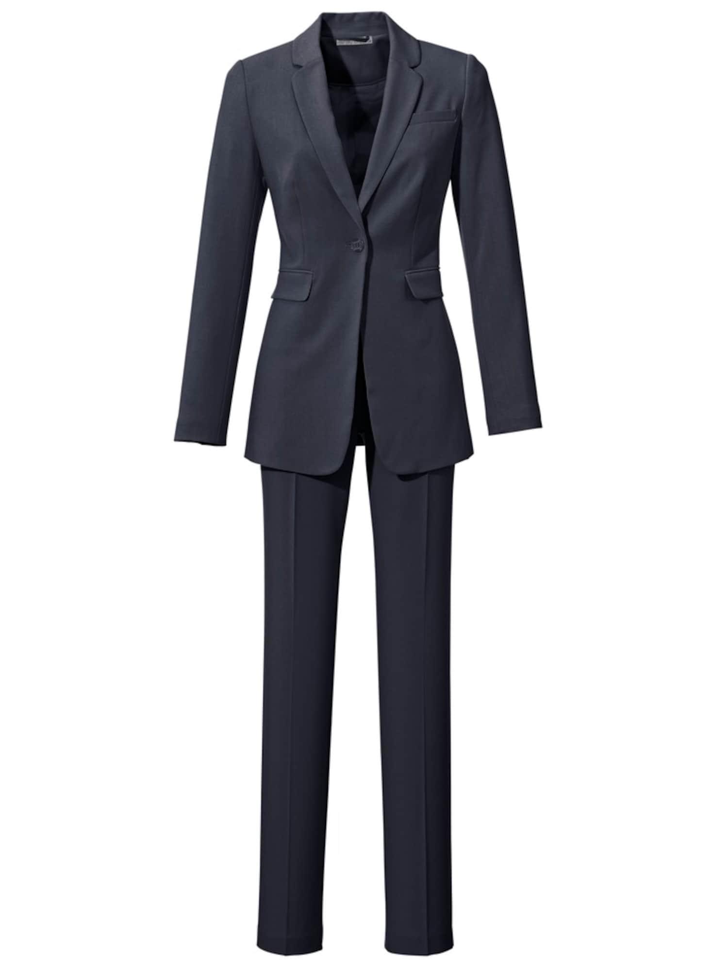 heine Moteriškas kostiumėlis su kelnėmis nakties mėlyna
