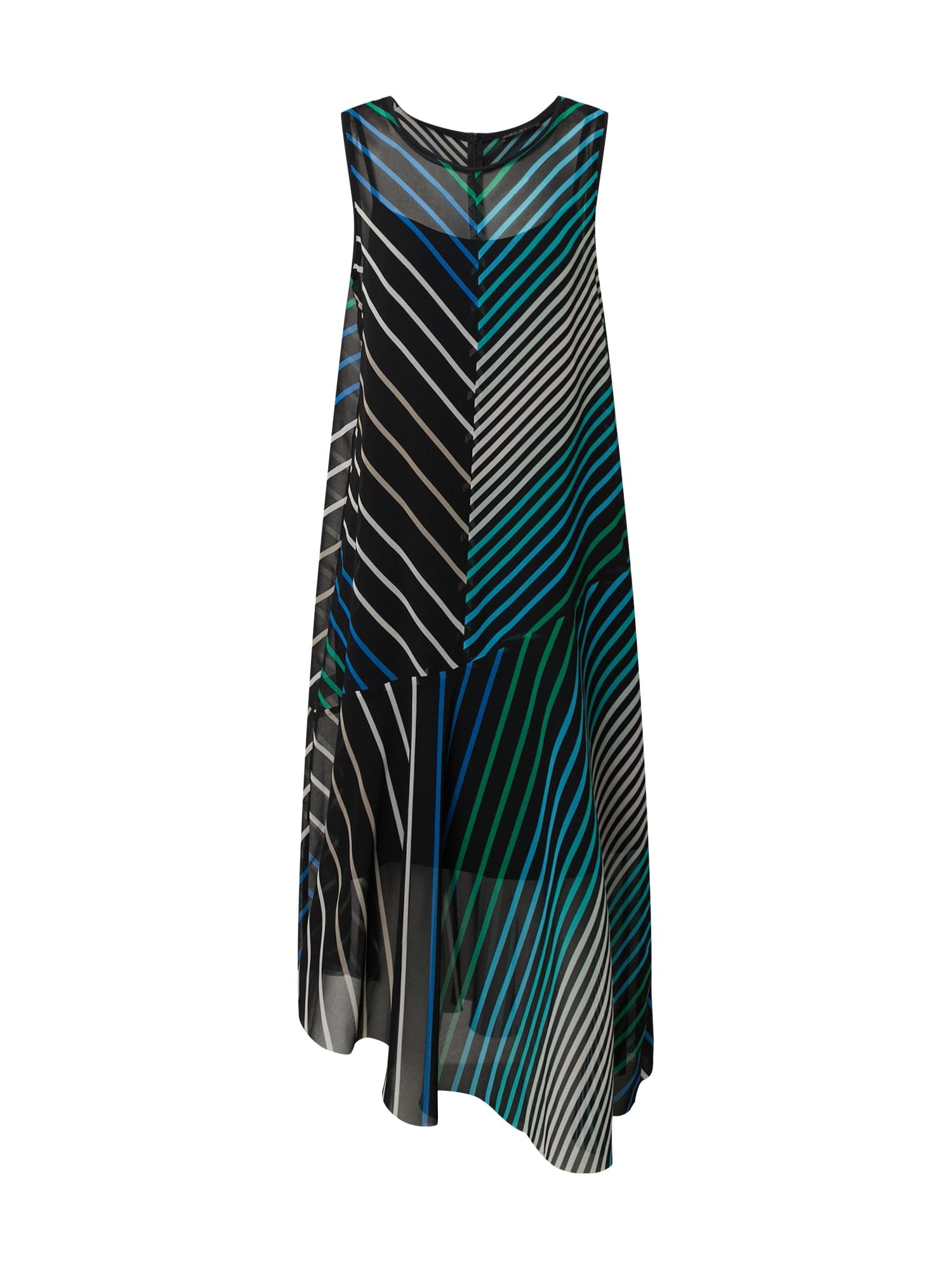 Marc Cain Suknelė tamsiai mėlyna / smėlio / dangaus žydra / žalia