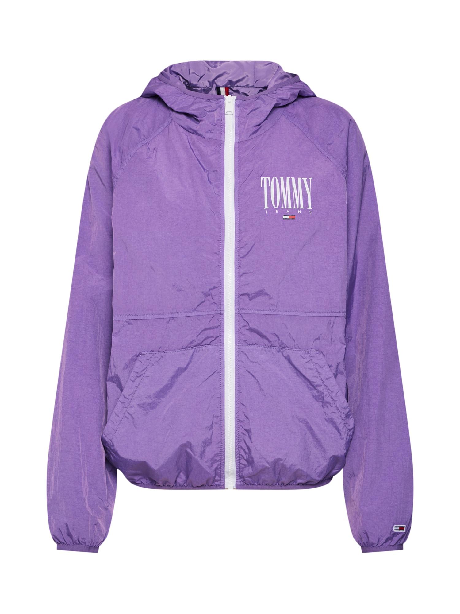 Přechodná bunda fialová bílá Tommy Jeans