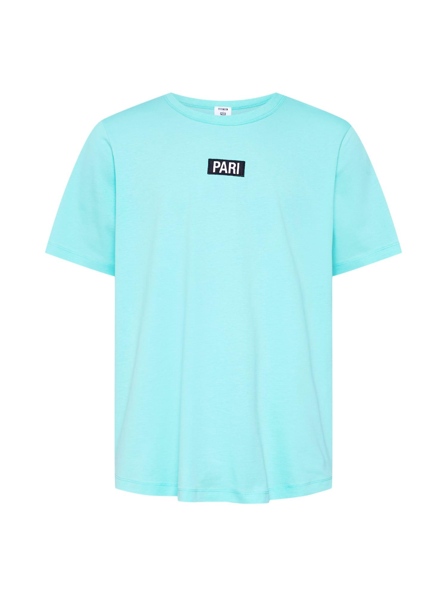 PARI Tričko 'Ben'  biela / tyrkysová / čierna