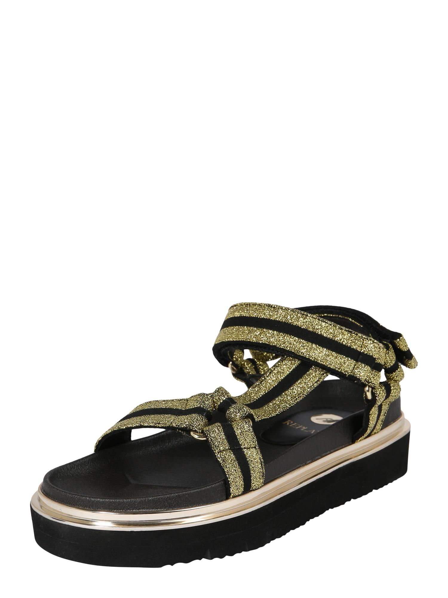 REPLAY Sandale cu beretă 'Hyndem'  auriu / negru