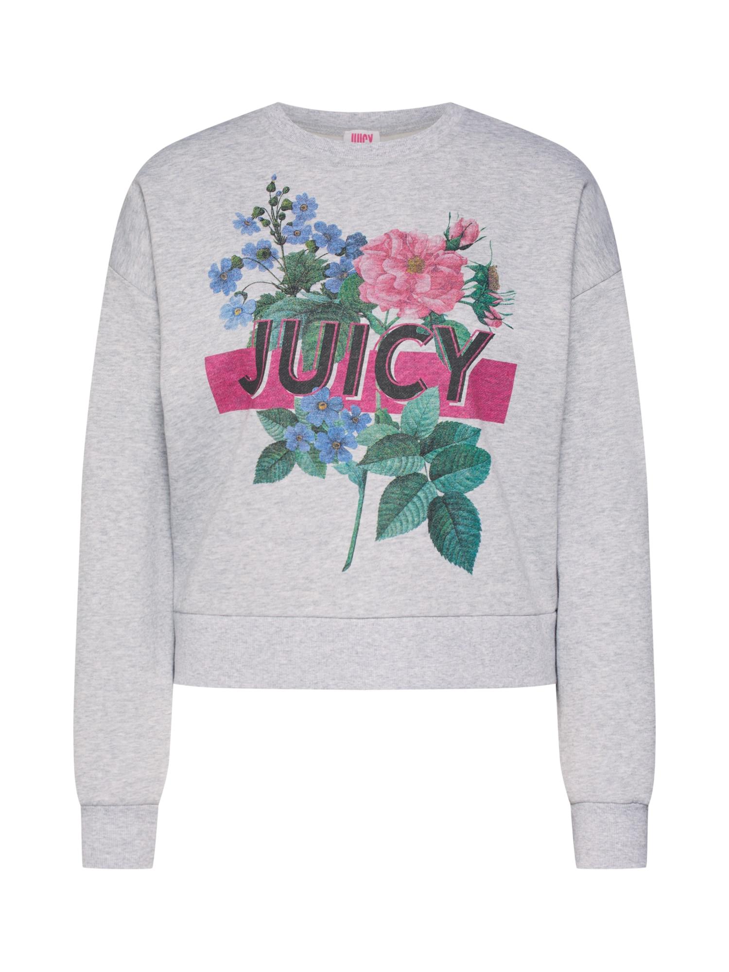 Mikina šedý melír mix barev Juicy By Juicy Couture