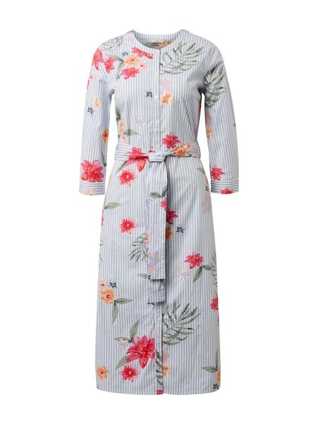 862af532329 Kleider für Frauen - TOM TAILOR Kleid rauchblau mischfarben weiß -  Onlineshop ABOUT YOU