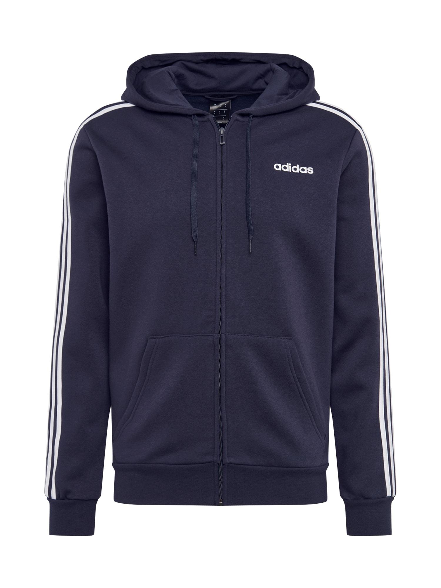 ADIDAS PERFORMANCE Sportinis džemperis mėlyna / balta