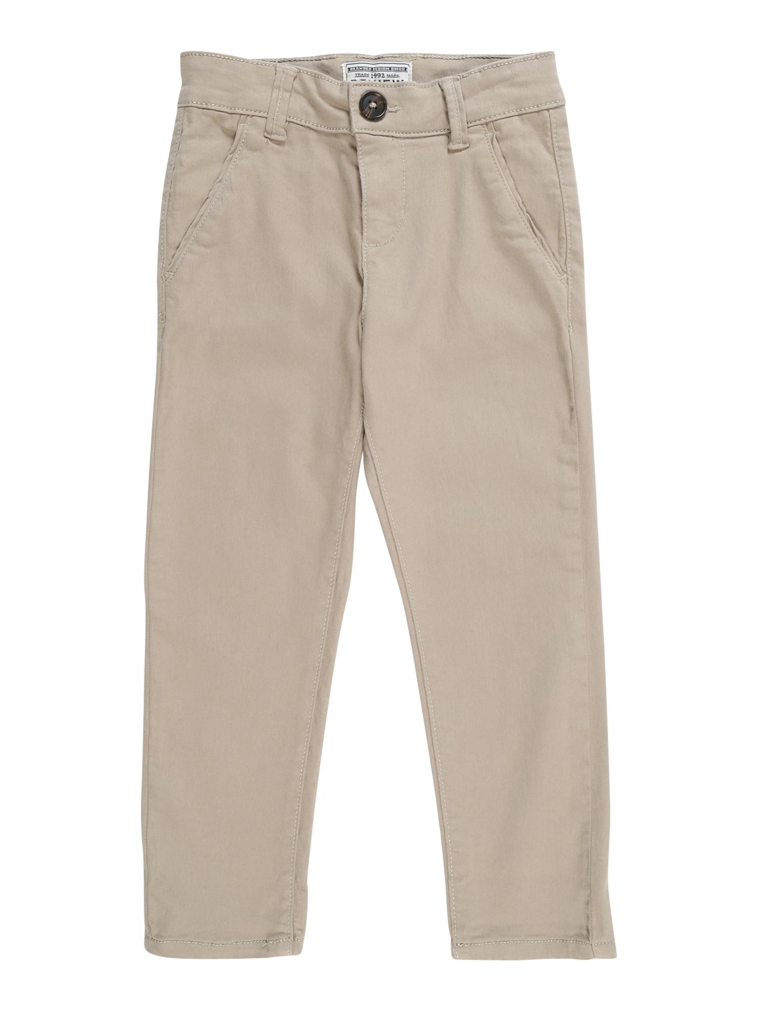 Kalhoty KB-19-P102 béžová REVIEW FOR KIDS