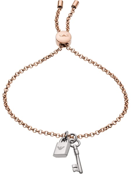 Armbaender für Frauen - Emporio Armani Armband rosegold silber  - Onlineshop ABOUT YOU