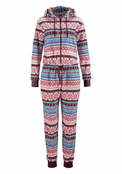 Hosen - Relax Jumpsuit mit buntem Norwegermuster › Bench › mehrfarbig  - Onlineshop ABOUT YOU