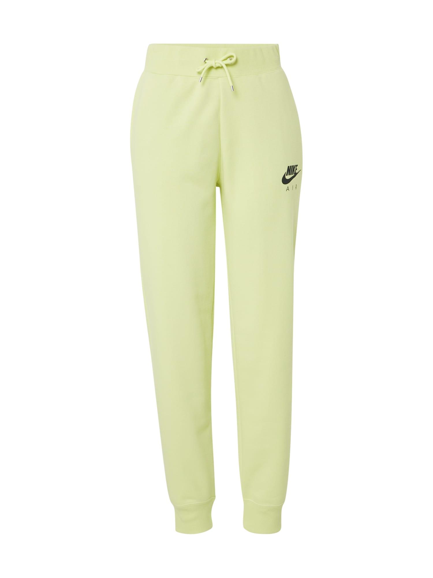 Nike Sportswear Sportinės kelnės 'W NSW AIR PANT FLC BB' citrinos spalva
