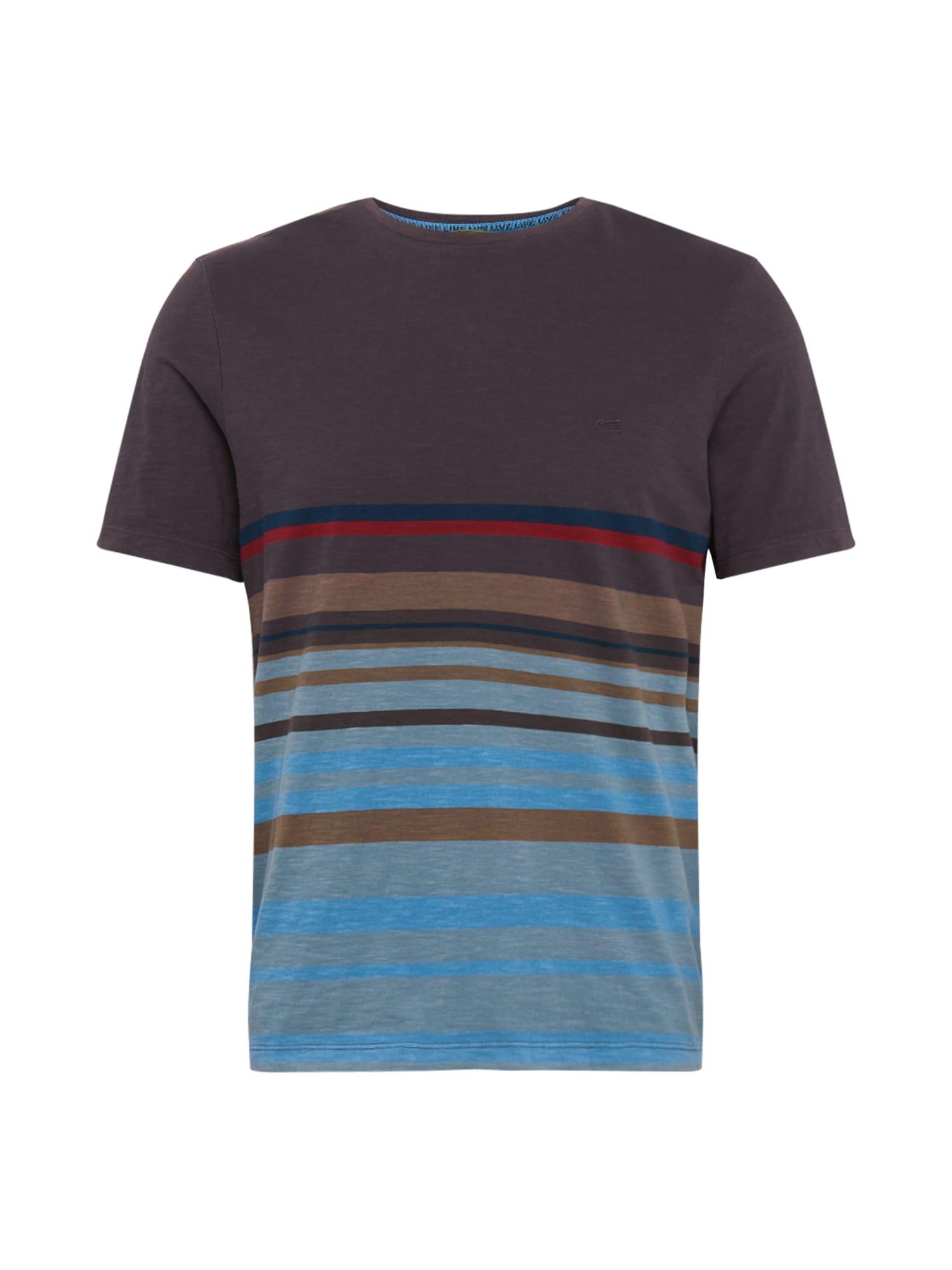 CAMEL ACTIVE Marškinėliai ruda / šviesiai mėlyna