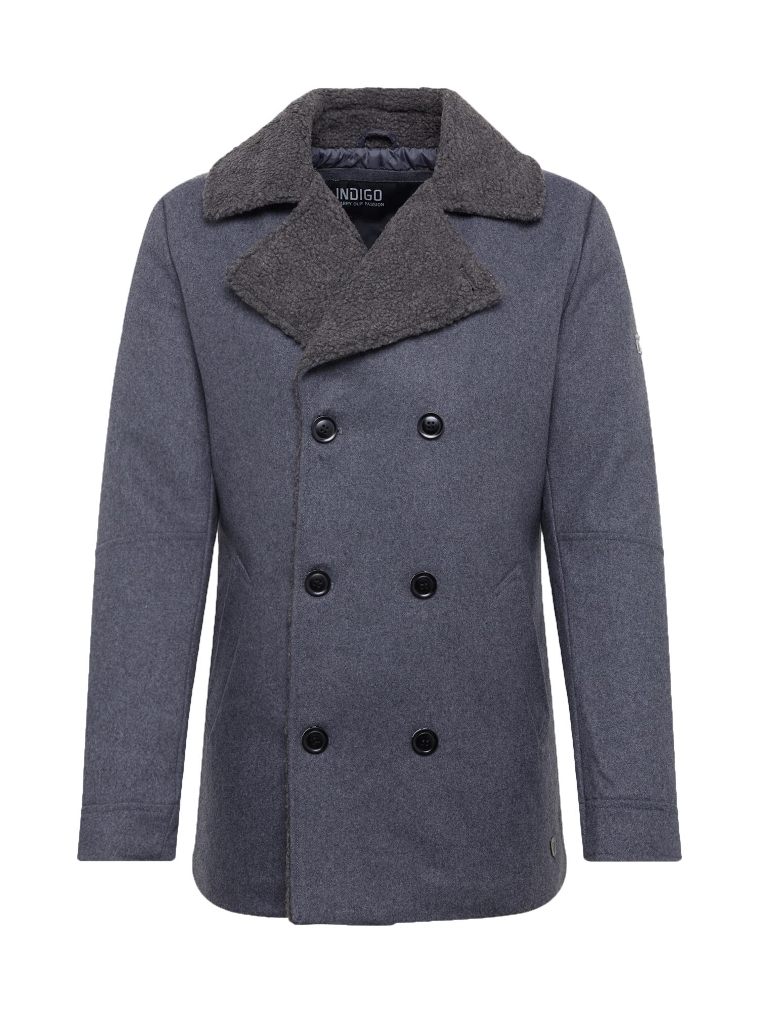 INDICODE JEANS Žieminis paltas 'Titouan' pilka