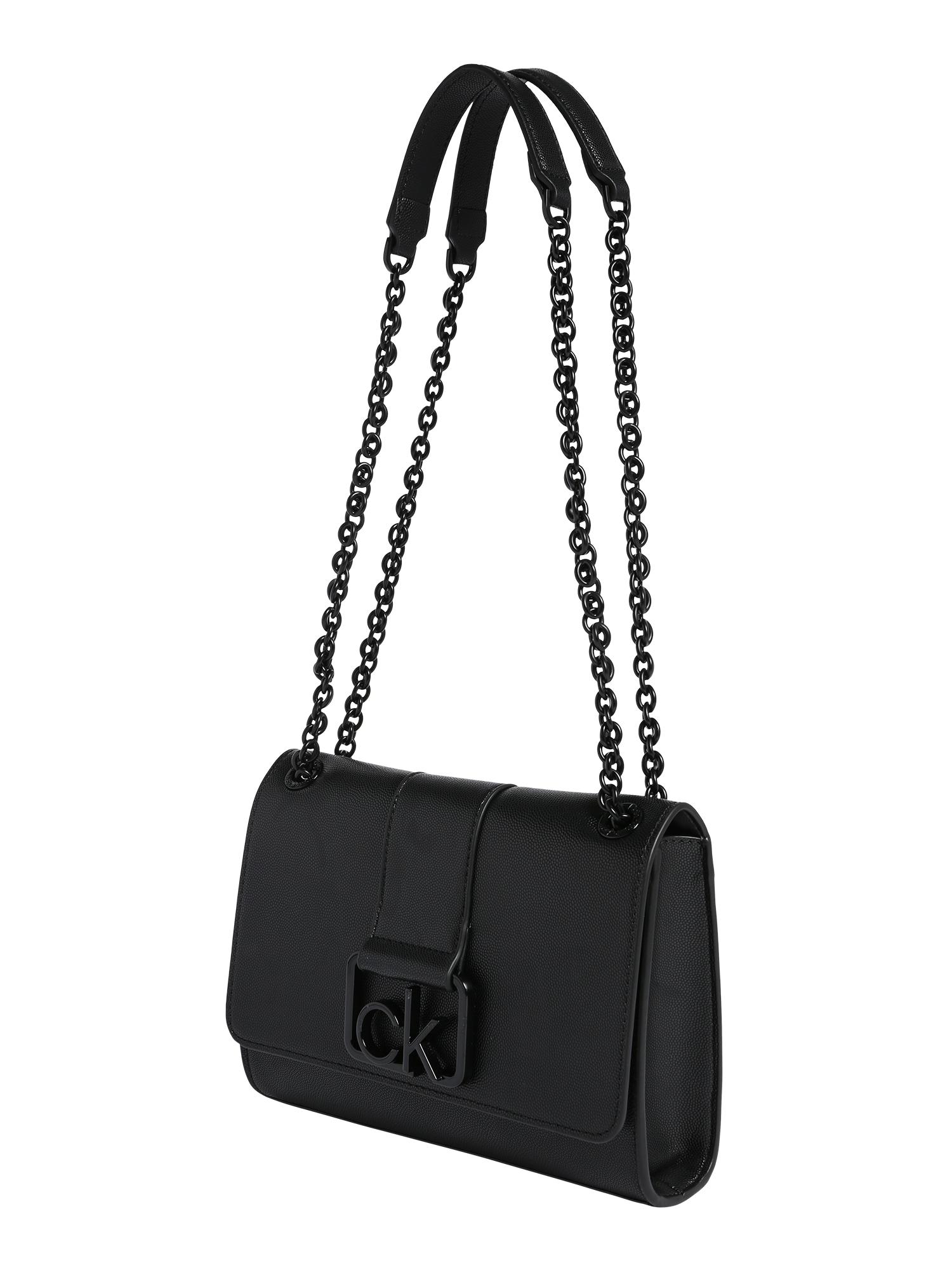 Calvin Klein Rankinė ant peties 'CK SIGNATURE' juoda