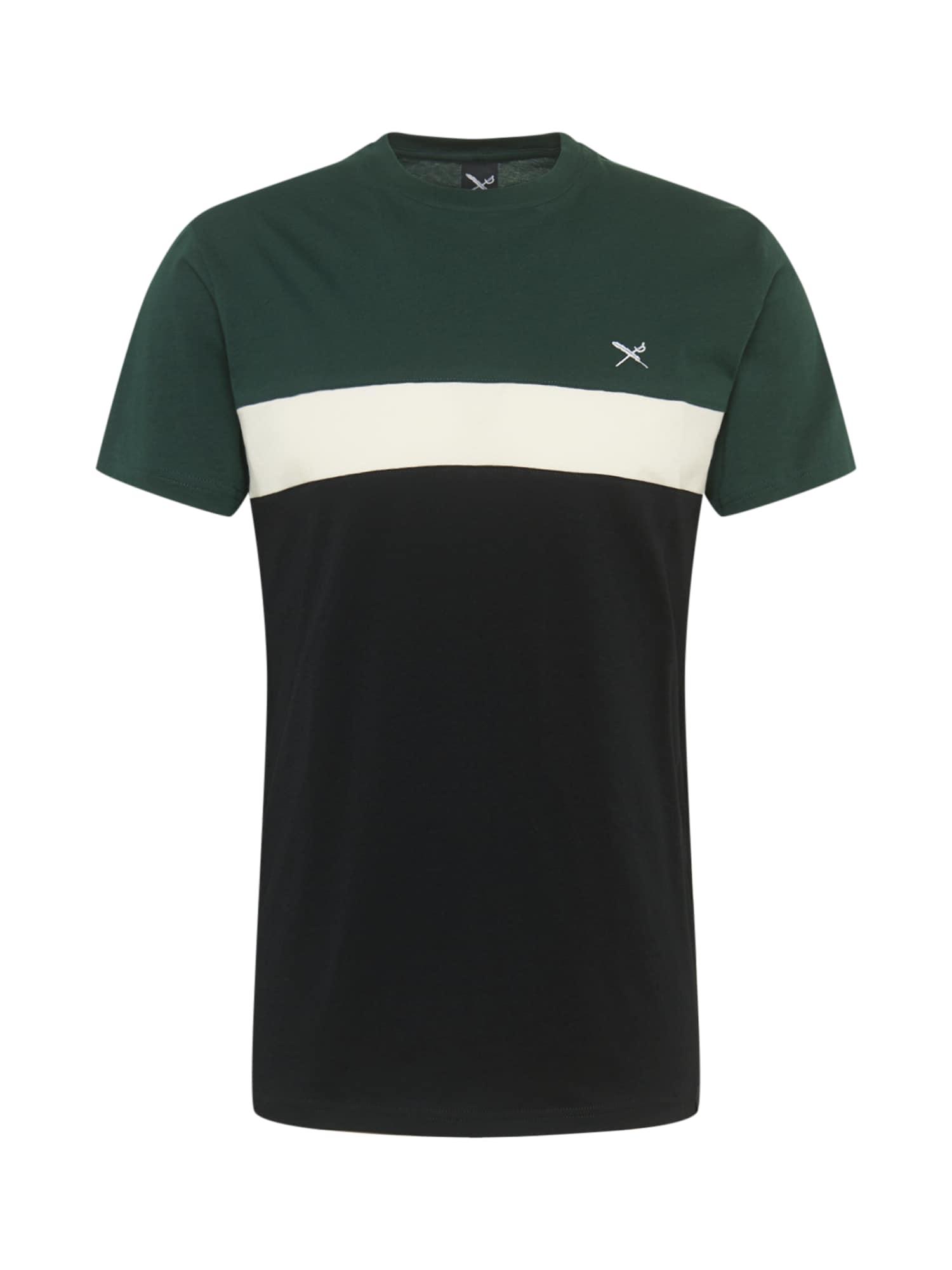 Iriedaily Marškinėliai balta / juoda
