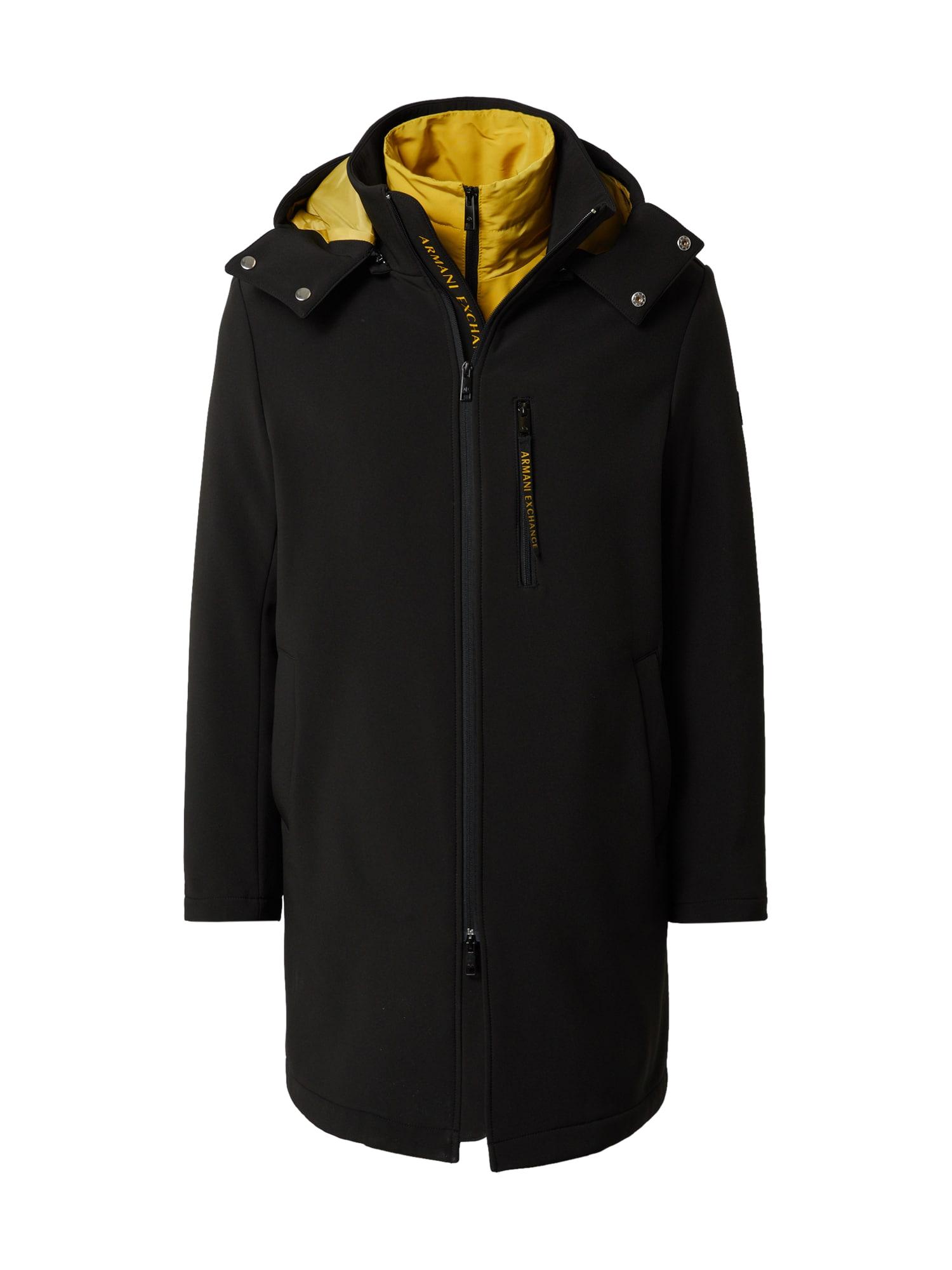 ARMANI EXCHANGE Demisezoninis paltas geltona / juoda
