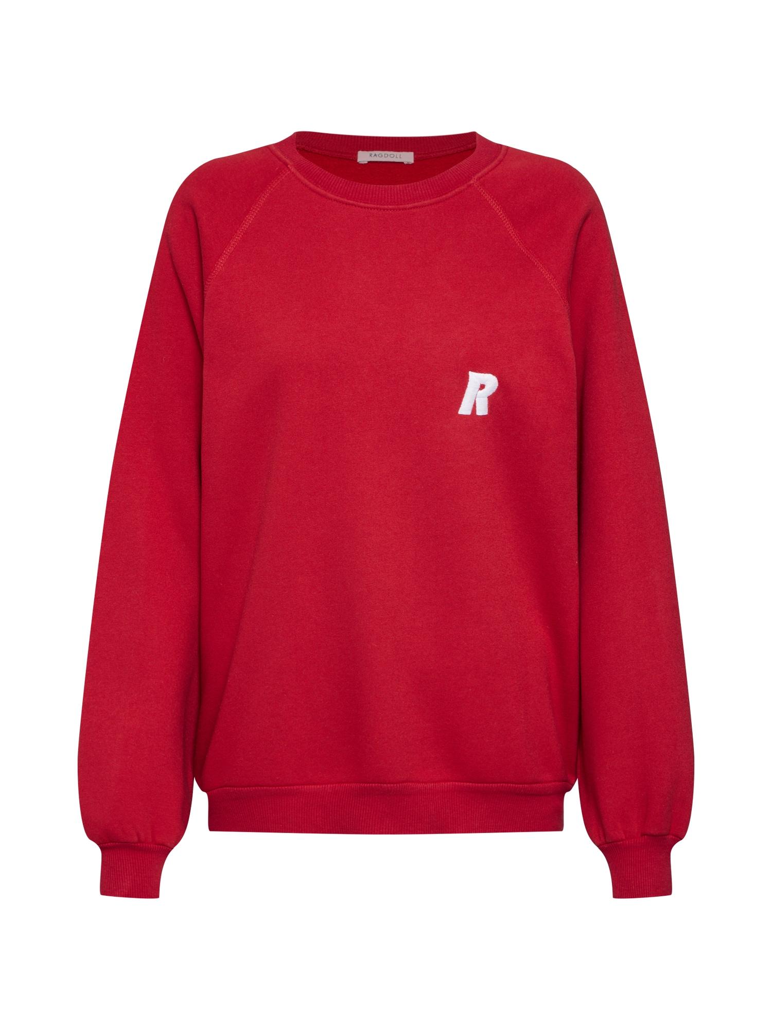 Mikina Oversized Sweatshirt červená Ragdoll LA