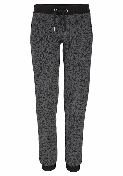 Hosen für Frauen - BUFFALO Relaxhose mit Zickzack Muster grau anthrazit schwarz  - Onlineshop ABOUT YOU