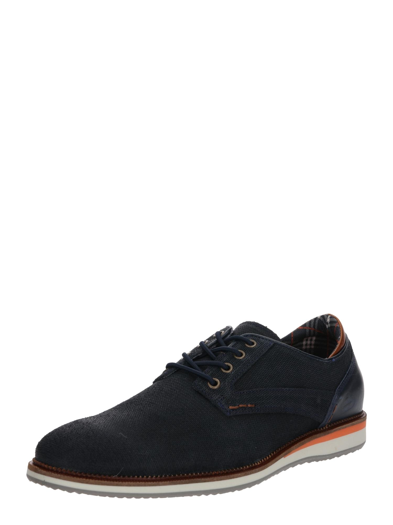 BULLBOXER Fűzős cipő  fekete / narancs