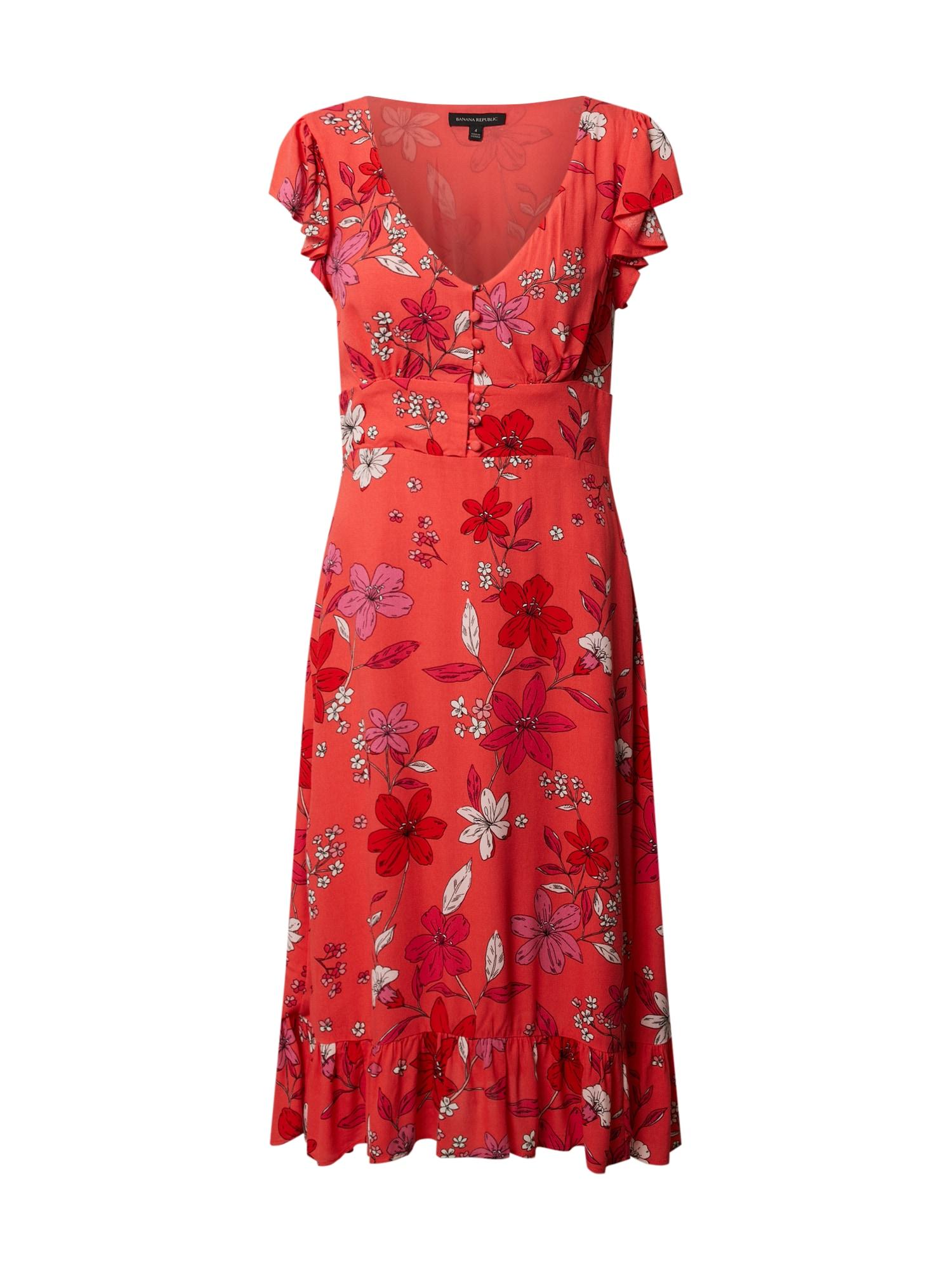 Banana Republic Suknelė raudona / rožių spalva / kremo