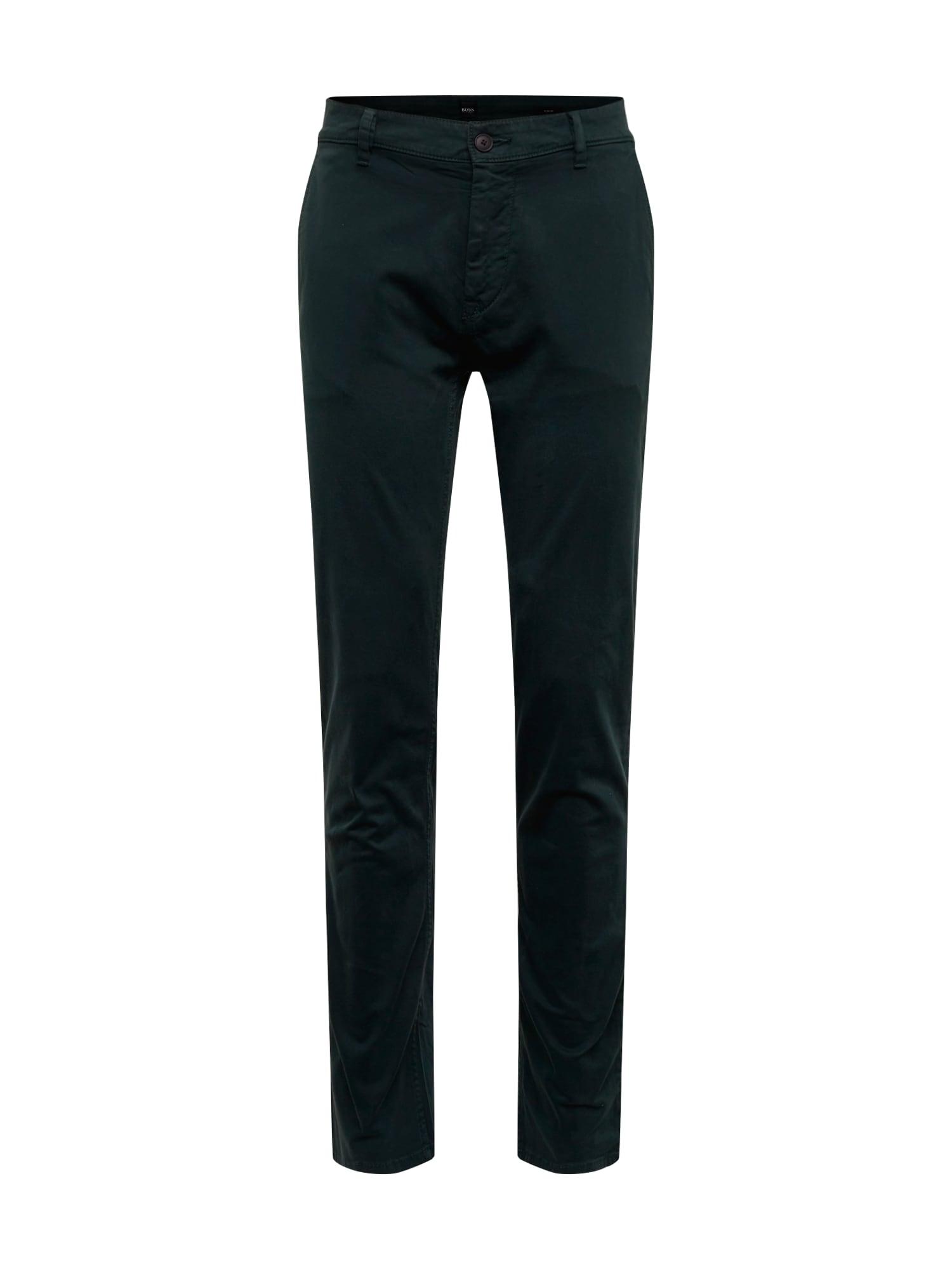 BOSS Chino stiliaus kelnės 'Schino' žalia