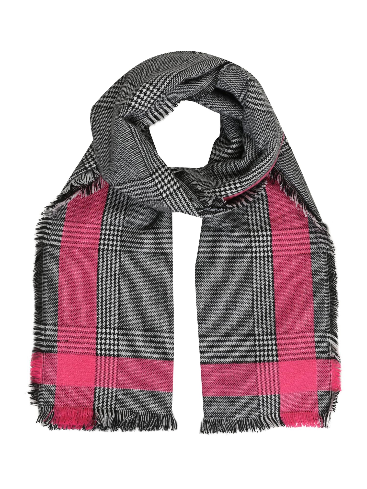 ONLY Šála 'HILDE'  pink / černá / béžová / antracitová