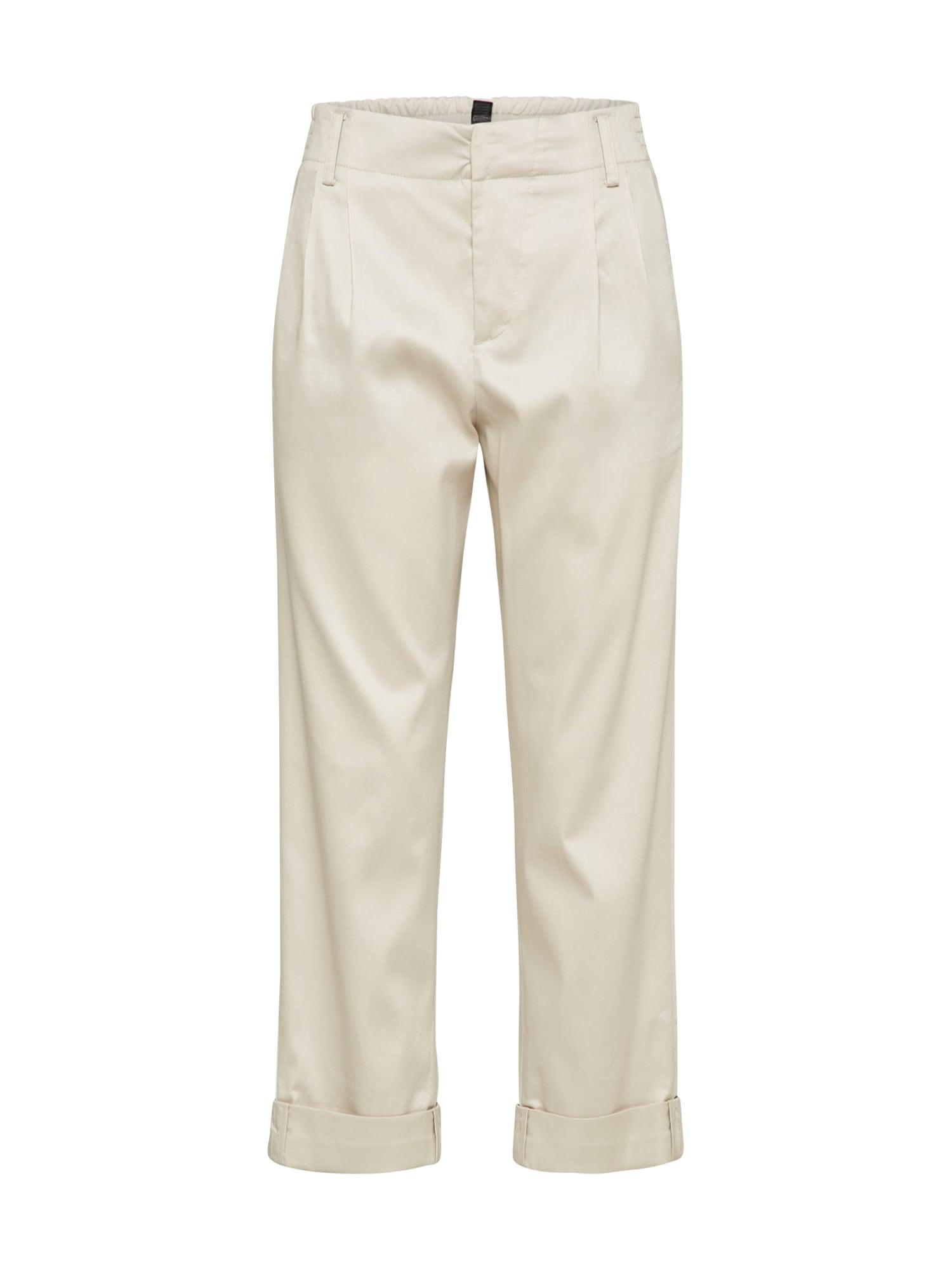 Kalhoty se sklady v pase DELAY béžová DRYKORN