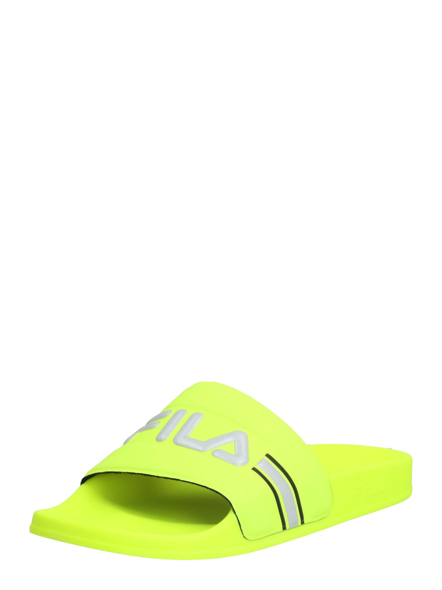 FILA Saboți  galben neon