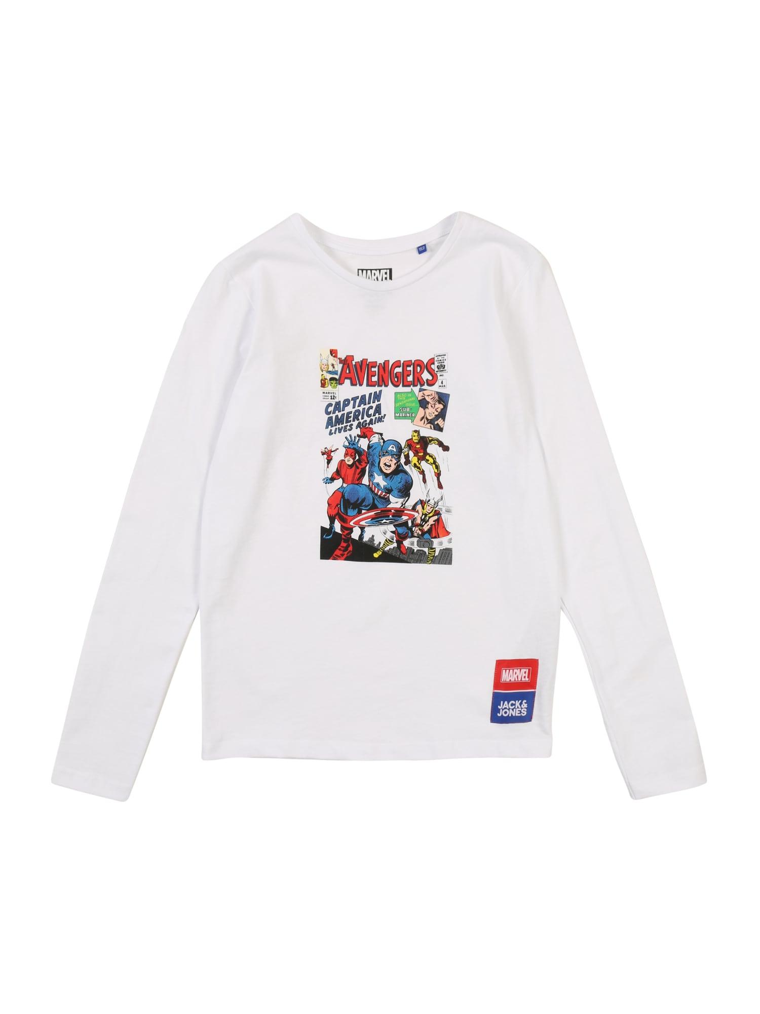 Jack & Jones Junior Marškinėliai 'Avengers' mišrios spalvos / balta