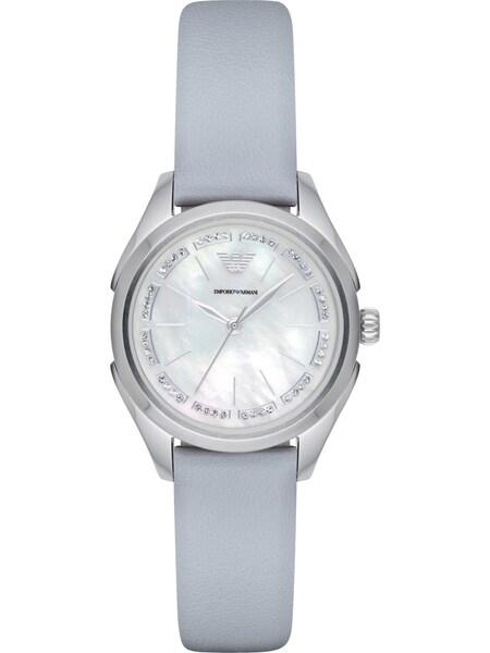 Uhren für Frauen - Emporio Armani Emporio Armani Damenuhr AR11032 hellblau silber  - Onlineshop ABOUT YOU