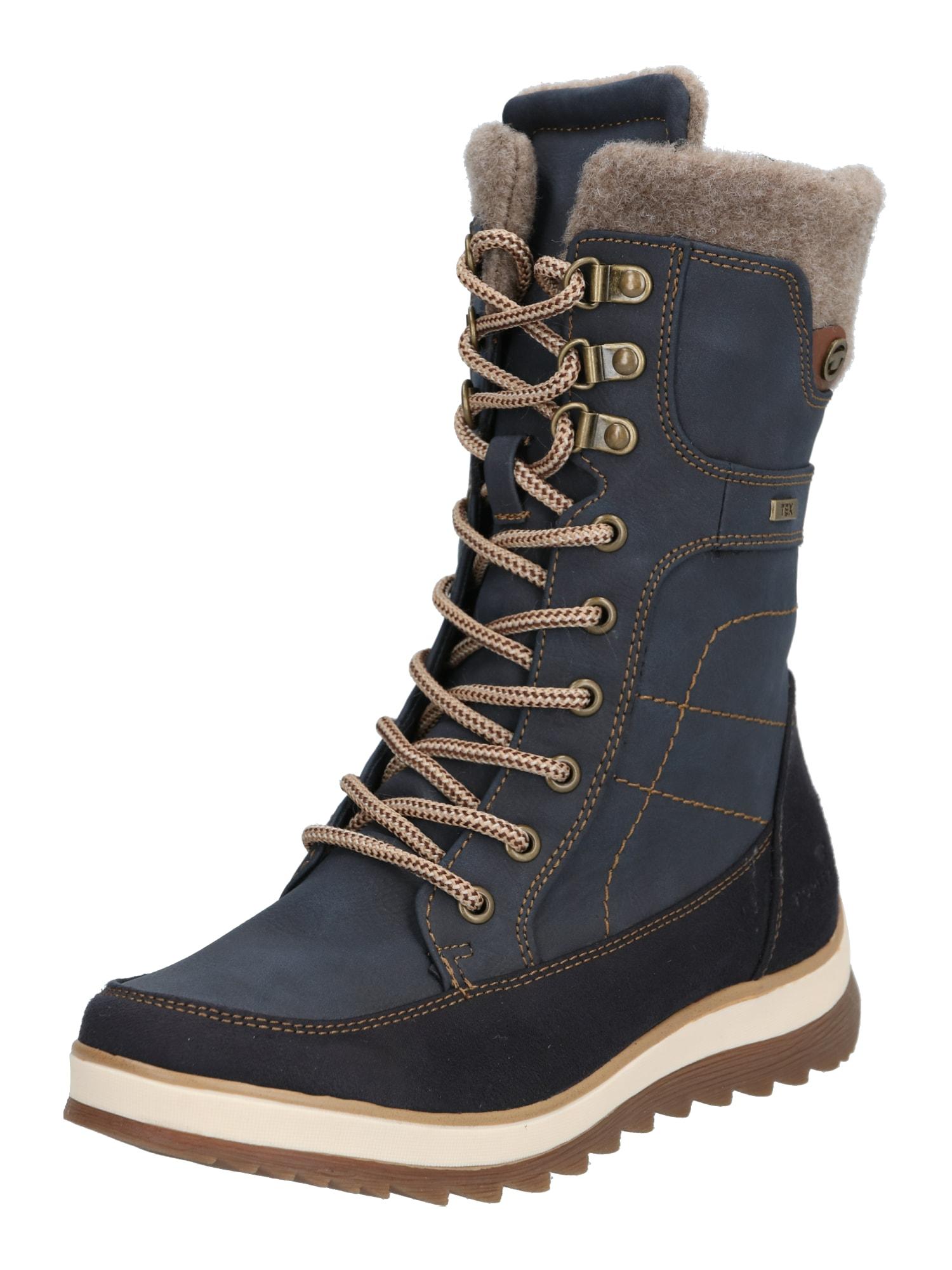 TOM TAILOR Suvarstomieji batai tamsiai mėlyna