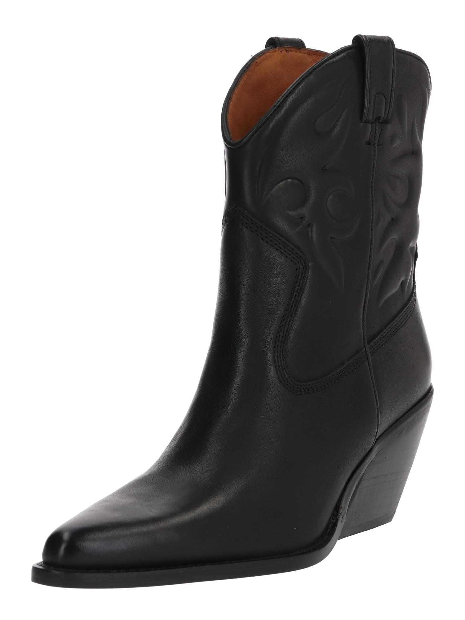 BRONX Kaubojiški batai 'Low Kole' juoda